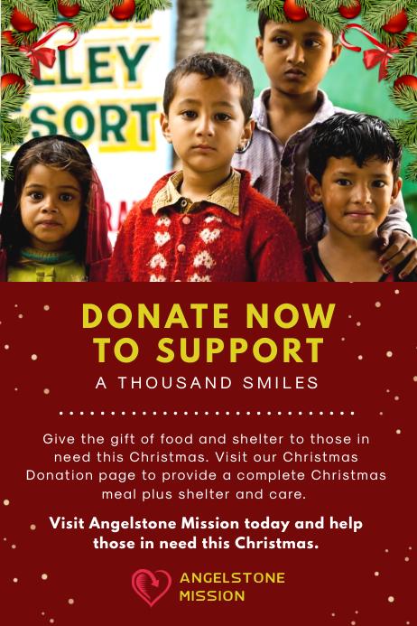 Christmas Fundraiser Advert Poster template