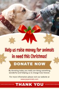 Christmas Fundraiser Poster Invitation