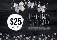 Christmas Gift Card Postal template