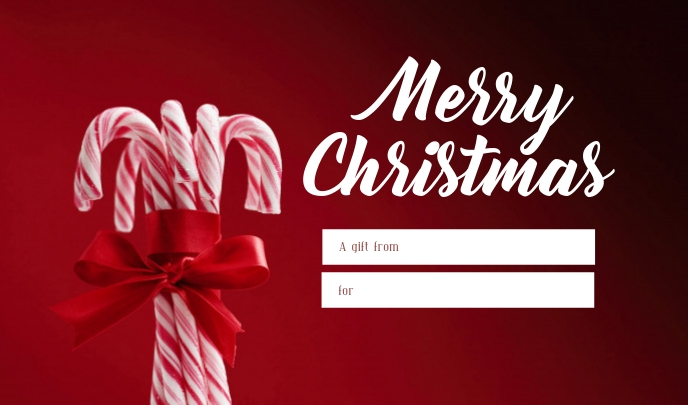 Christmas Gift Card Template Postermywall