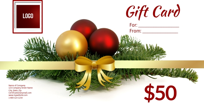 Christmas Gift Card Poster.Christmas Gift Card Template Postermywall