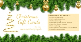 Christmas Gift Cards Promotion Shopping Cover