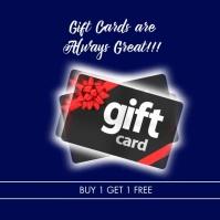 Christmas Gift Cards Sale Social Media Ad Сообщение Instagram template
