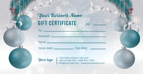 Christmas Gift Certificate Facebook Shared Image template