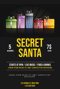 Christmas Gift Night Event Flyer Template