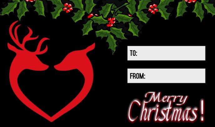 Christmas Gift Tag Merker template