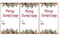 Christmas Gift Tag แท็ก template