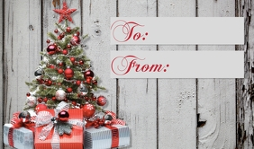 christmas gift tag to from Etiqueta template