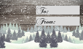 christmas gift tag to from Merker template