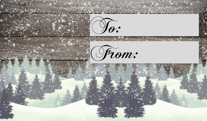 christmas gift tag to from