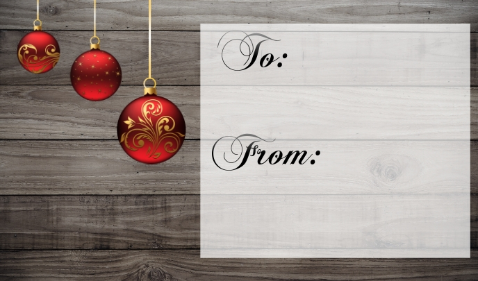 christmas gift tag to from Label template