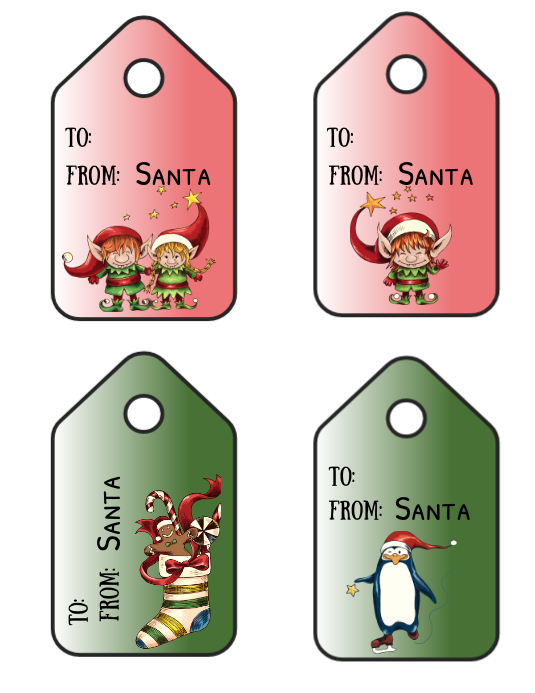 Christmas Gift Tags Template.Christmas Gift Tags Template Postermywall