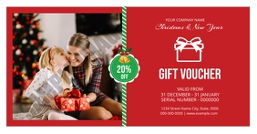 Christmas Gift Voucher Card Ibinahaging Larawan sa Facebook template