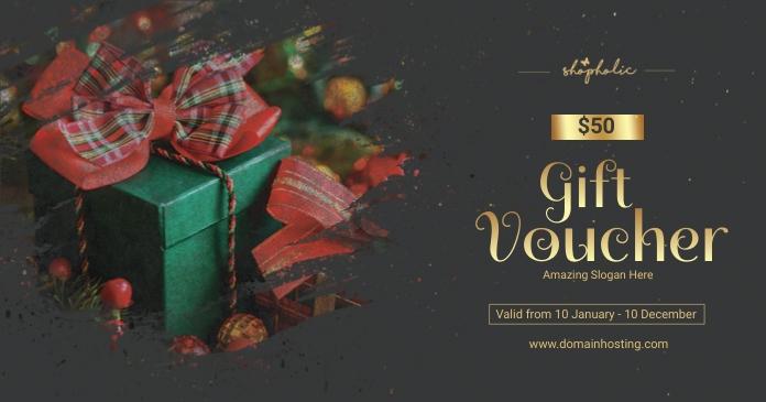 Christmas Gift Voucher Facebook 共享图片 template