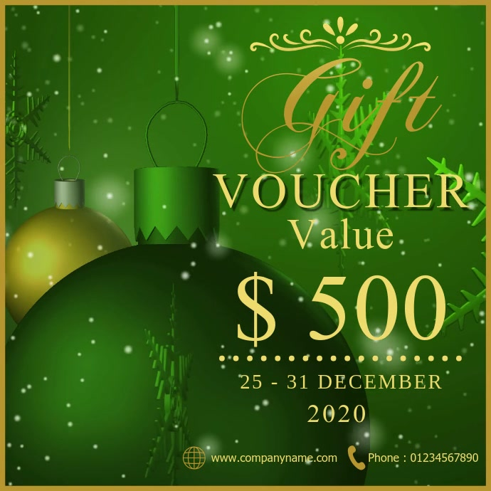 Christmas gift voucher Wpis na Instagrama template