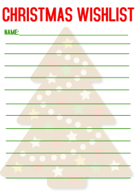 Christmas gift wish list A6 template