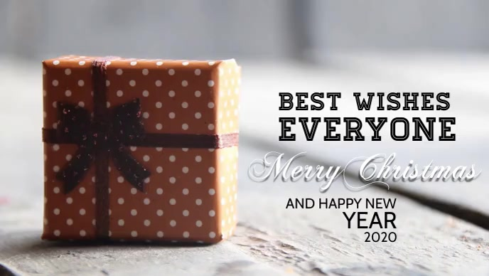 Christmas Gifts Best Wishes Template Postermywall