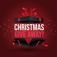 CHRISTMAS give away instagram Design Template Square (1:1)
