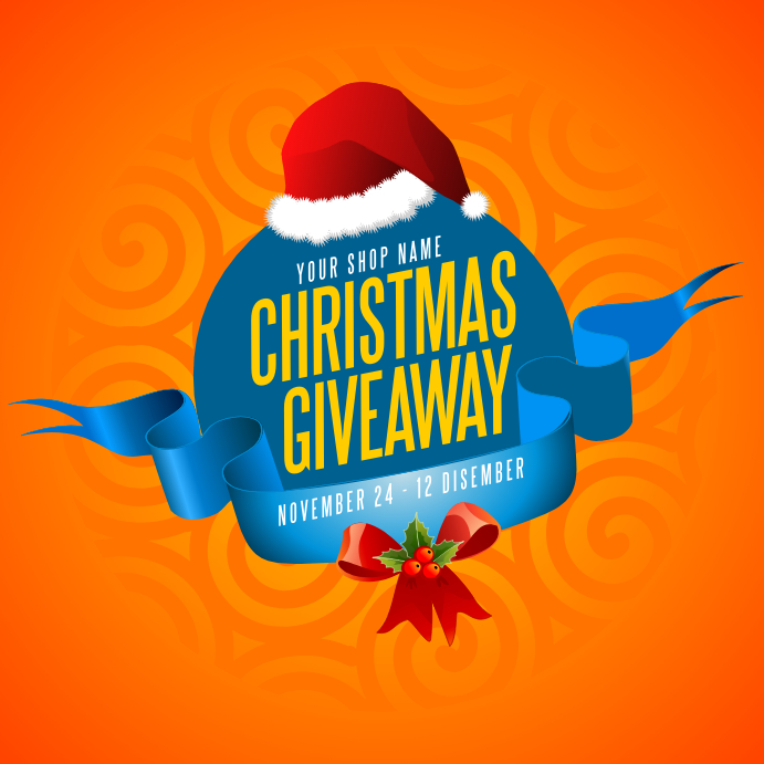 christmas giveaway template postermywall