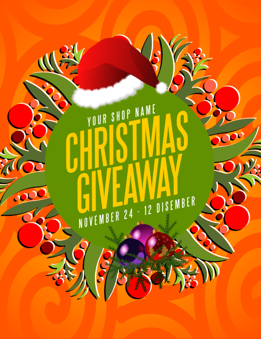 Christmas Giveaway Flyer.Christmas Giveaway Flyer Template Postermywall