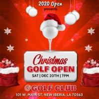 CHRISTMAS GOLF OPEN FLYER TEMPLATE Instagram na Post