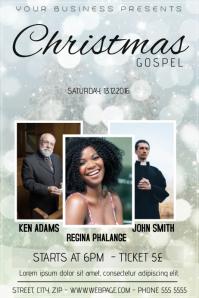 Christmas Gospel Church Event Concert Poster Template