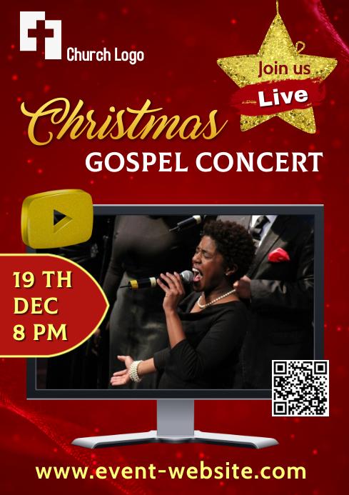 Christmas Gospel Concert - Online A4 template