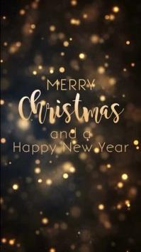 Christmas greeting Card Black Gold story ad Historia de Instagram template