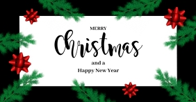 Christmas Greeting Card Cover Header Message Facebook Shared Image template