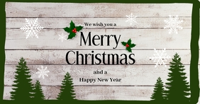 Christmas Greeting Card Cover Wishes Message Facebook Shared Image template