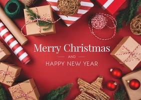 Christmas Greeting Card Decoration Postcard Открытка template