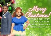 christmas greeting card Postal template