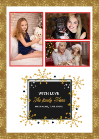 Christmas Greeting card A6 template