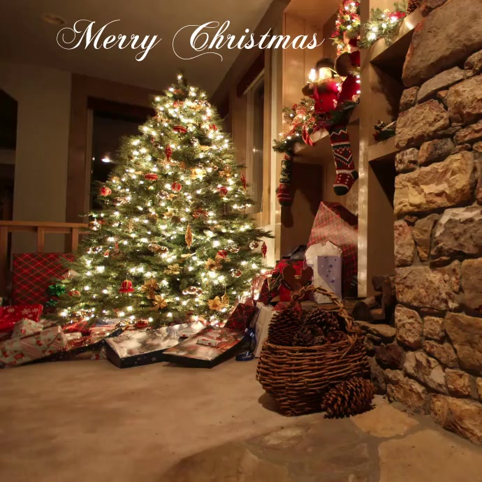Christmas Greeting Card Instagram Post template