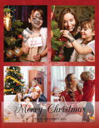 Christmas Greeting Card Folder (US Letter) template