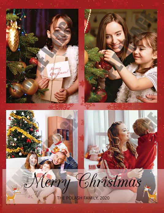 Christmas Greeting Card Ulotka (US Letter) template