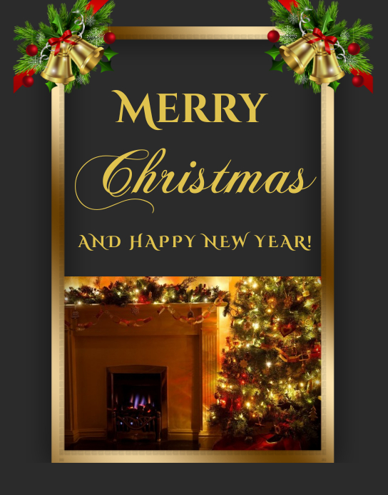 Christmas Greeting Card Cartaz/placa template