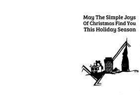 Printable 5x7 Christmas Greeting Card