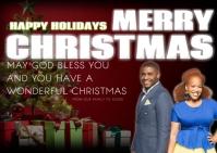 christmas greeting card Carte postale template
