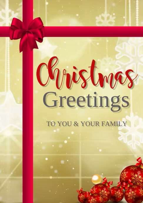 Christmas Greeting Card Template Postermywall