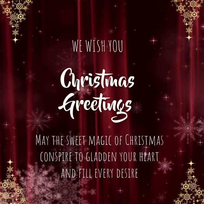 CHRISTMAS GREETING CARD โพสต์บน Instagram template