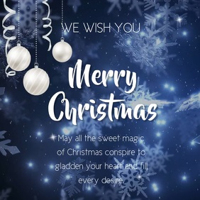 CHRISTMAS GREETING CARD Square (1:1) template