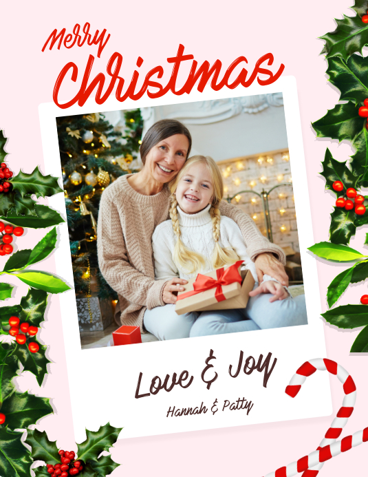 Christmas Greeting Card Flyer Ulotka (US Letter) template