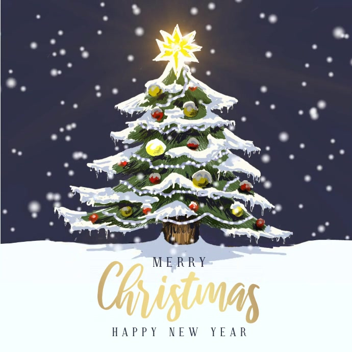 Christmas Greeting Card Flyer