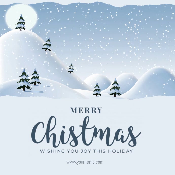 Christmas Greeting Card Flyer Wpis na Instagrama template