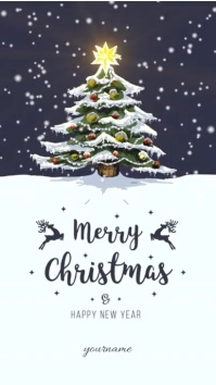 Christmas Greeting Card Flyer
