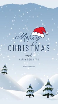Christmas Greeting Card Flyer Instagram-Story template