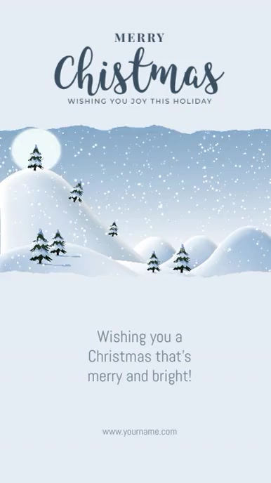 Christmas Greeting Card Flyer Instagram Story template
