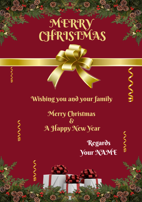 Christmas Greeting Card For Family Friends Or Retail Sale