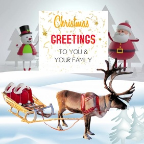 CHRISTMAS GREETING CARD INSTAGRAM POST